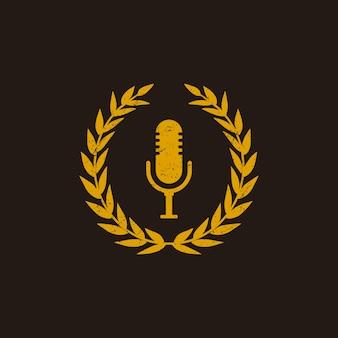 Podcast-logo ontwerp in vintage