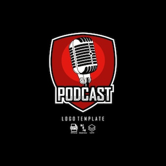 Podcast logo-sjabloon
