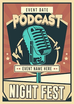 Podcast poster sjabloon