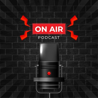 Podcast-sjabloon voor sociale media