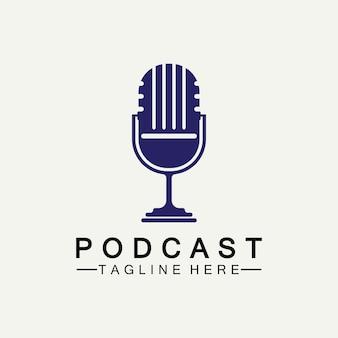 Podcast vector pictogram ontwerp illustratie sjabloon