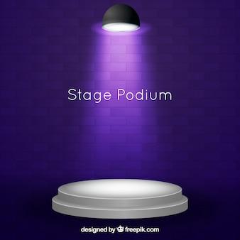 Podium podiumachtergrond met verlichting