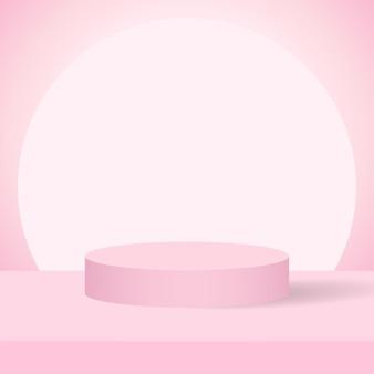 Podium product roze achtergrond