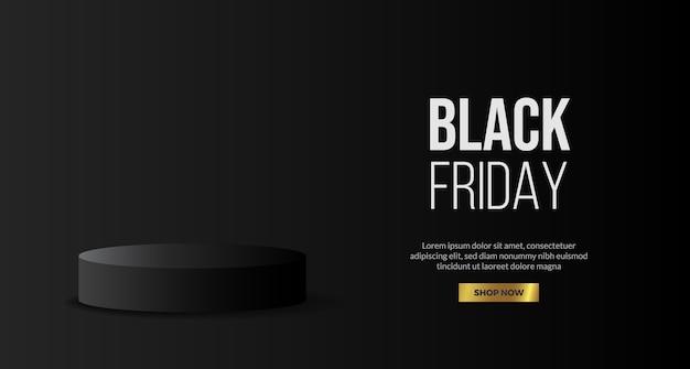Podium voetstuk product display voor zwarte vrijdag