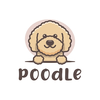 Poedel hond schattig logo