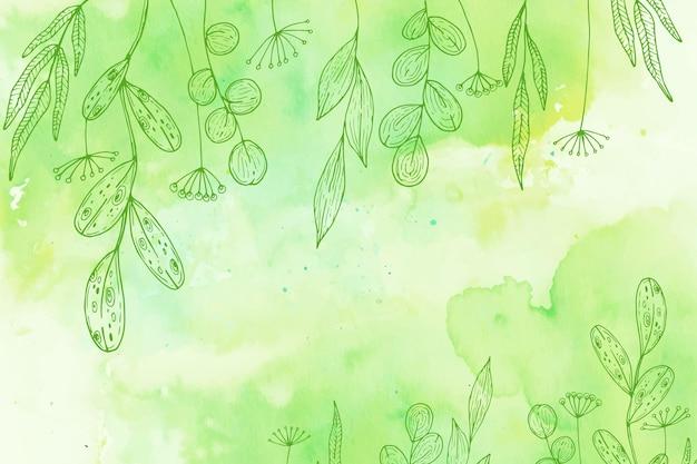 Poeder pastel achtergrond met hand getrokken elementen
