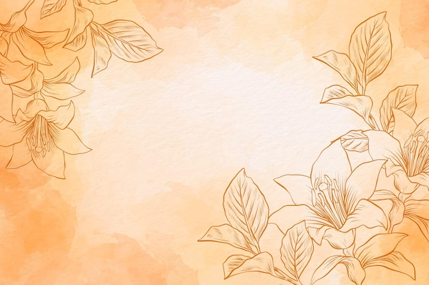 Poeder pastel met hand getrokken elementen - achtergrond