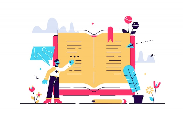 Poëzie illustratie. plat klein gedicht manuscript auteur persoon concept. abstract literatuur schrijven en klassieke cultuurwetenschap. gebruik van historische inktveren en romantisch oud roman-verhaaldocument