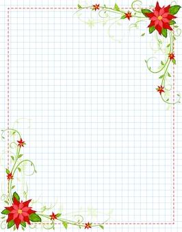 Poinsettia frame