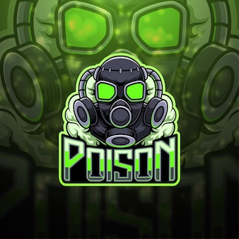 Poison esport mascotte logo ontwerp