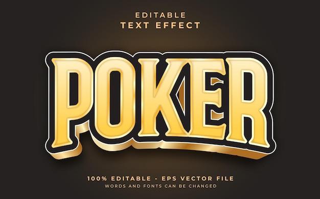 Poker bewerkbaar teksteffect