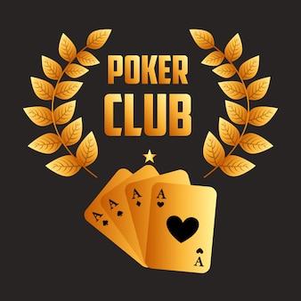 Poker club illustratie