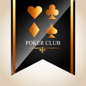 Poker club illustratie