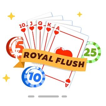 Poker geïsoleerd concept in vlakke stijl