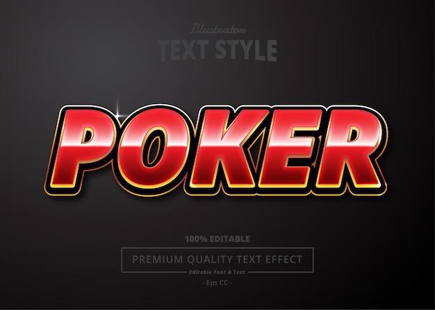 Poker illustrator-teksteffect