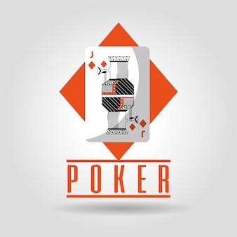 Poker jack of diamanten speelkaart poster
