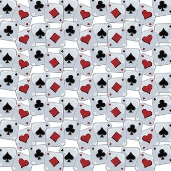 Poker kaart thema patroon
