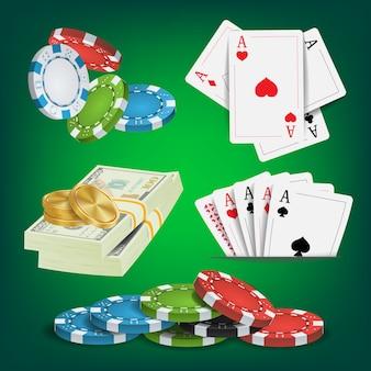 Poker-ontwerpelementen