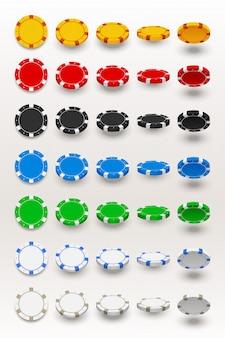 Pokerchips in set