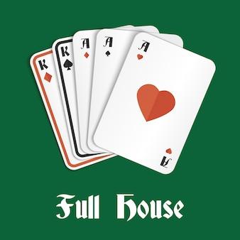 Pokerhand vol huis