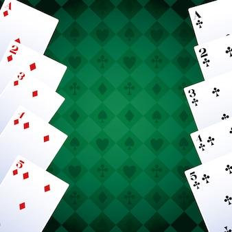 Pokerkaarten club en diamanten gokspel gokcasino