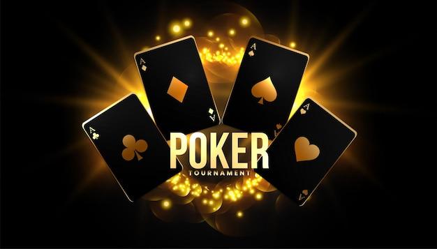 Pokerspel achtergrond met speelkaarten