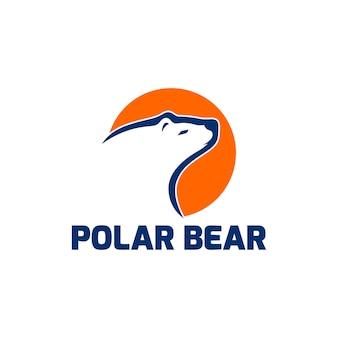 Polar bear-logo klaar voor gebruik