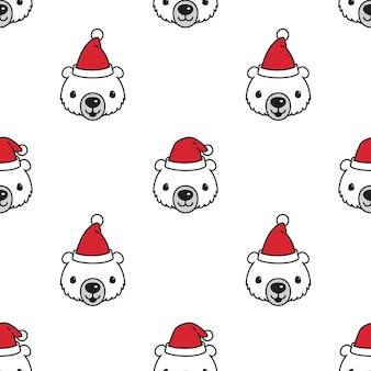 Polar bear naadloze patroon