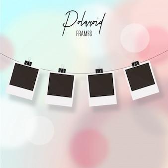 Polaroid-frames met bokeh