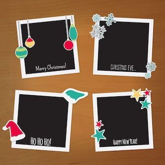 Polaroid kerstmisframes