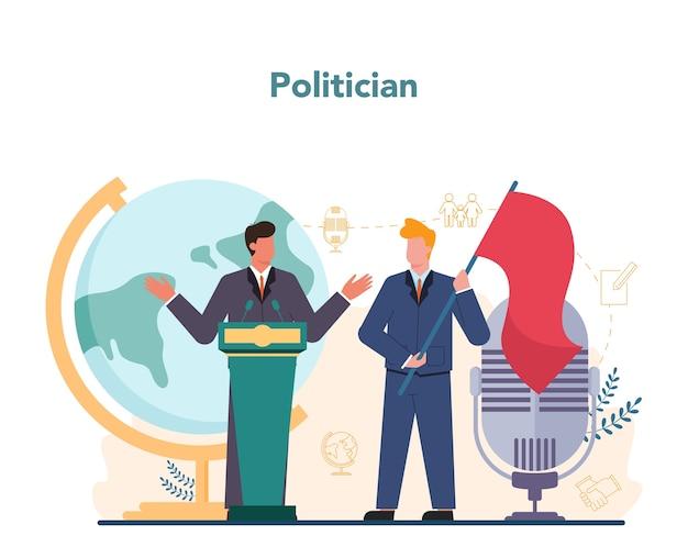 Politicus concept idee van verkiezing en regering