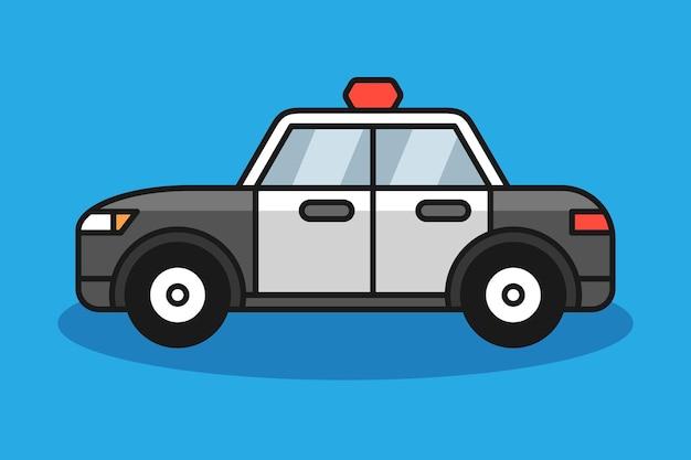 Politie auto illustratie