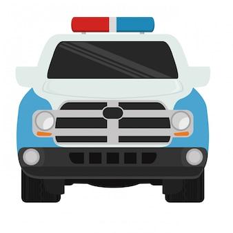 Politie auto pictogram