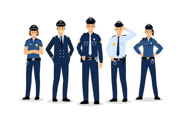 Politie collectie concept