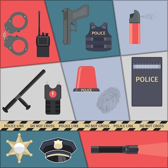 Politie elementen instellen