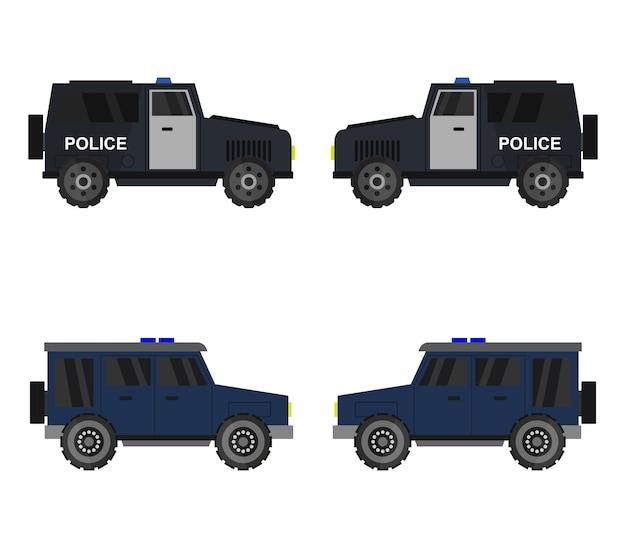 Politie jeep set