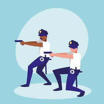 Politie mannen avatar karakter