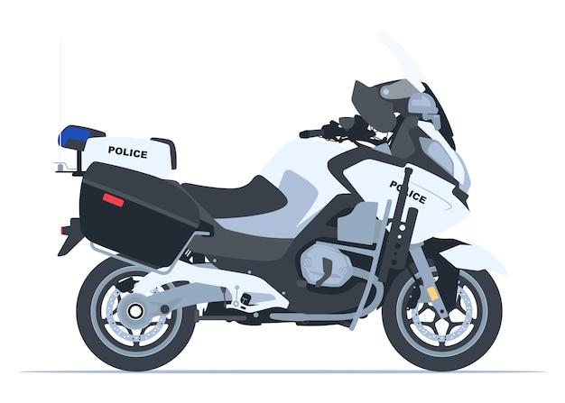 Politie motorfiets zijaanzicht