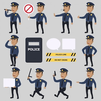 Politie tekens collectie