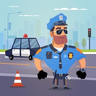 Politieagent van wacht