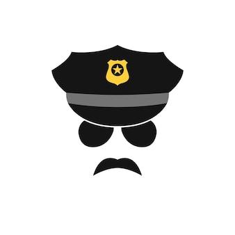 Politieagent vectorillustratie.