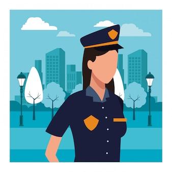 Politieagent vrouw werknemer avatar