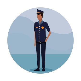 Politieagent werknemer