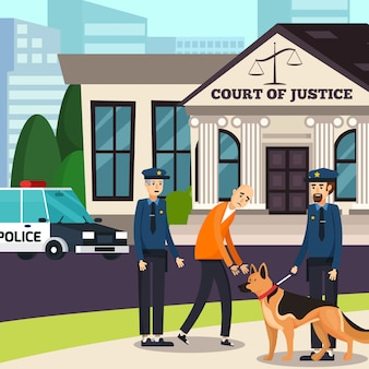Politieagenten en vermoedelijke orthogonale samenstelling