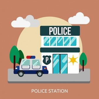 Politiebureau achtergrond ontwerp