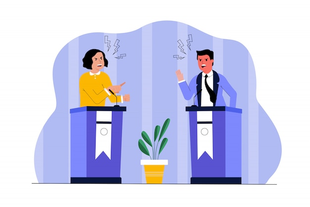 Politiek ontmoet leiderschap, communicatie concept verkiezing.