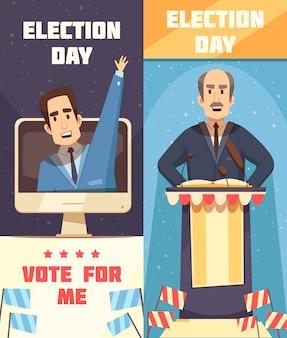 Politiek verkiezingscampagne verticale banners
