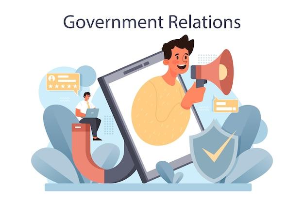 Politieke partij of politieke instellingen openbaar bestuur en promotie Premium Vector