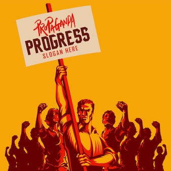 Politieke protestactivisme patriottisme vectorillustratie