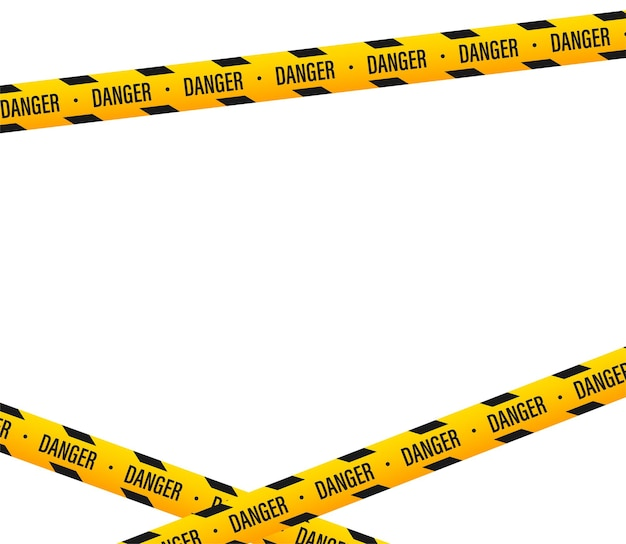 Politielijn kruist het tape-ontwerp niet not